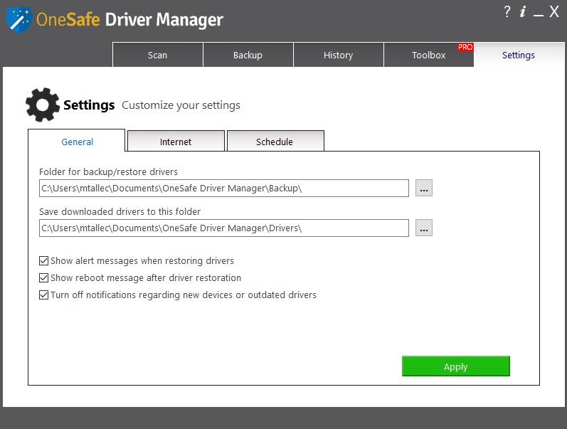 OneSafe Driver Manager