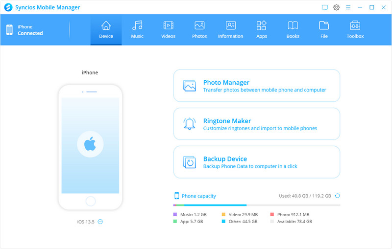 Syncios Mobile Manager