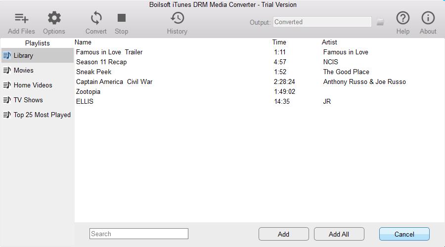 Boilsoft iTunes DRM Media Converter